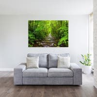 Noir Gallery River in a Lush Forest in the Great Smoky Mountains of North Carolina Mounted Fine Art Photo Print.