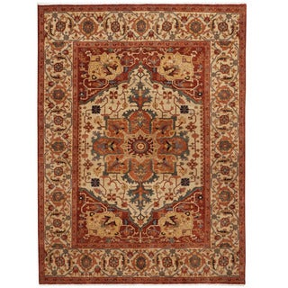 Herat Oriental Indo Hand-knotted Serapi Wool Rug (8'2 x 10')