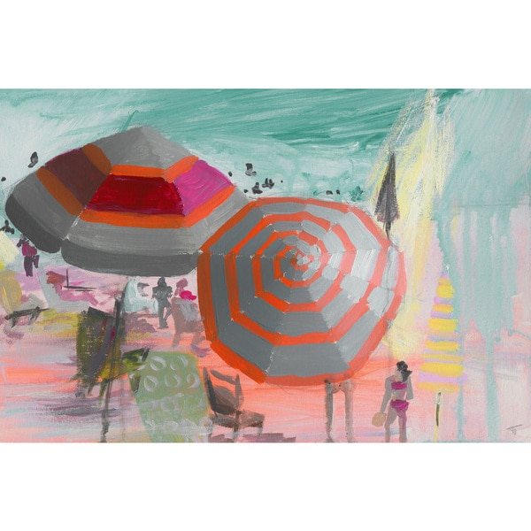 'Beach Festivities' Painting Print on Wrapped Canvas
