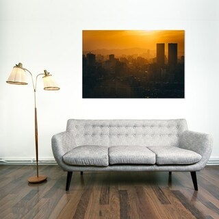 Noir Gallery Sunset from Elephant Mountain Taipei, Taiwan Mounted Fine Art Photo Print.
