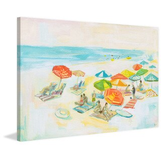 'Beach Diversity' Painting Print on Wrapped Canvas
