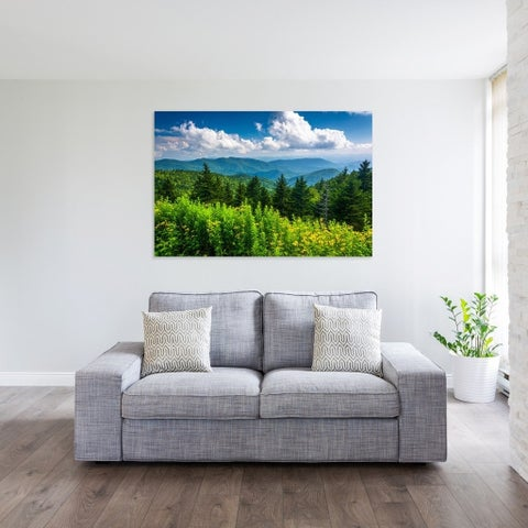 Noir Gallery View of the Appalachian Mountains on the Blue Ridge Parkway, North Carolina Photo Print on Metal.