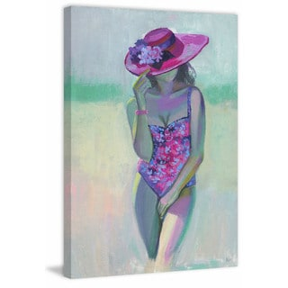 'Pretty Flower' Painting Print on Wrapped Canvas
