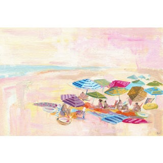 'Watching the Sea' Painting Print on Wrapped Canvas