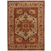 Handmade Herat Oriental Indo Serapi Wool Rug - 8' x 9'10 (India)