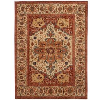 Handmade One-of-a-Kind Serapi Wool Rug (India) - 9'10 x 13'11