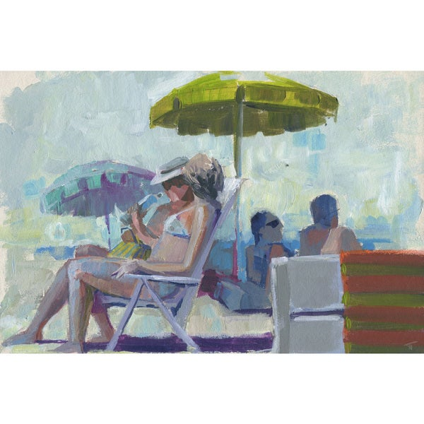 'Drink or Swim' Painting Print on Wrapped Canvas - Blue
