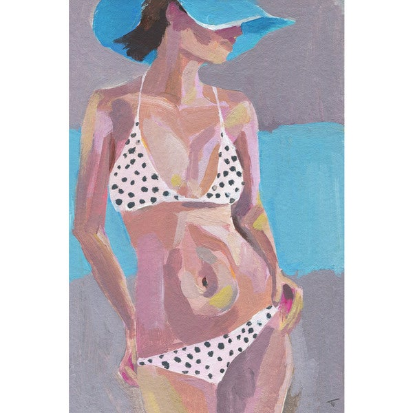 'I See Spots' Painting Print on Wrapped Canvas - Black
