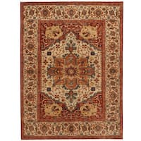 Herat Oriental Indo Hand-knotted Serapi Wool Rug (10' x 13'11)