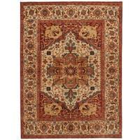 Handmade Herat Oriental Indo Serapi Wool Rug (India) - 10' x 13'11