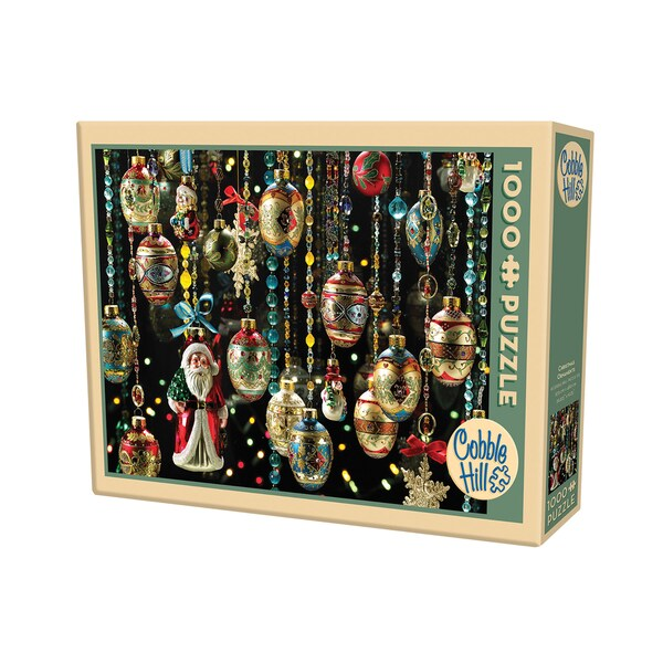 Cobble Hill Christmas Ornaments Puzzle - 1,000 Pieces