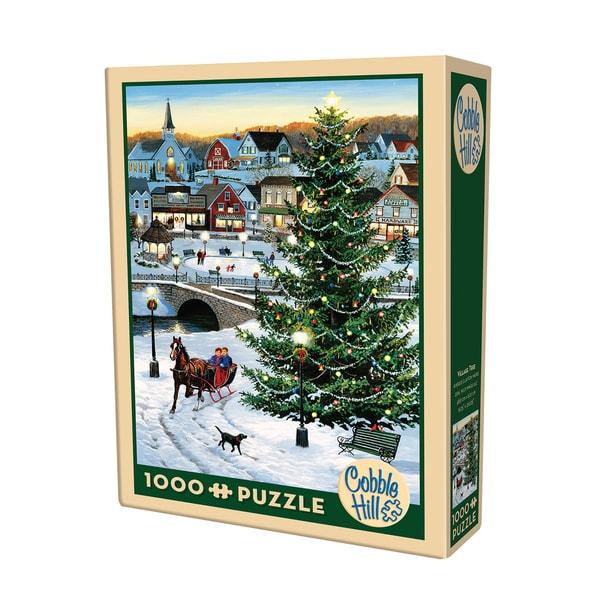 Cobble Hill Village Tree Puzzle - 1,000 Pieces