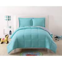 Laura Hart Kids Solid Reversible 3-piece Comforter Set