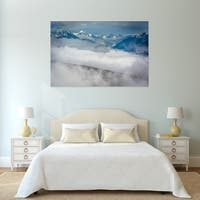 Noir Gallery View of Snowy Mountains in Olympic National Park, Washington Mounted Fine Art Photo Print.