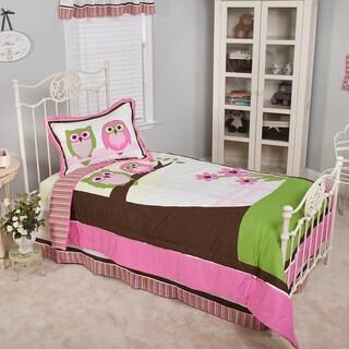Sweet Dream Owl Twin 3-piece Comforter Set