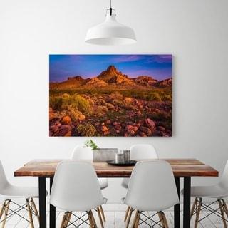 Noir Gallery Colorful Desert Sunset in Oatman, Arizona Photo Print on Metal.