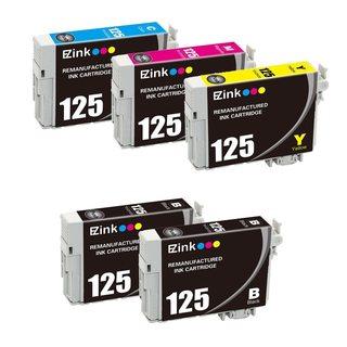 5pcs Remanufactured Epson 125 Ink Cartridge 2BL/1C/1M/1Y