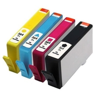 4pcs Remanufactured HP 564XL Ink Cartridge 1BL/1C/1M/1Y