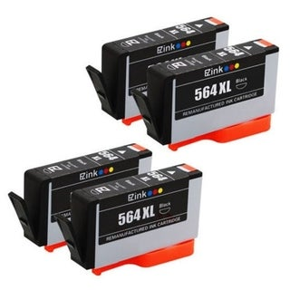 4pcs Remanufactured HP 564XL Ink Cartridge 4BL