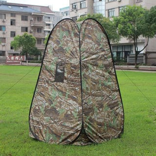 Portable Pop-up Dressing Fitting Room Tent Maple Leaf Camouflage
