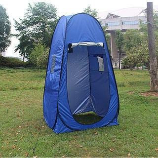 Outdoor Portable Pop-up Dressing Fitting Room Tent with Window Blue