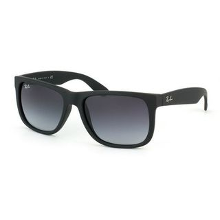 Ray-Ban Justin Classic RB4165 Unisex Black Frame Grey Gradient Lens Sunglasses (As Is Item)