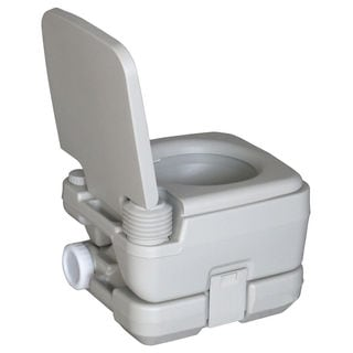 CHH-1010 10L Portable Removable Flushing Toilet Outdoor Camping Potty Grey