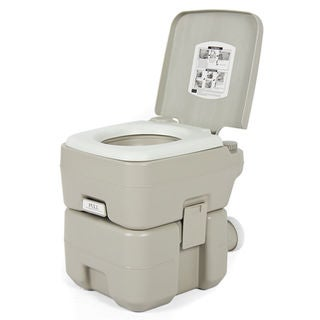 CHH-1020 20L Portable Removable Flushing Toilet Outdoor Camping Potty Grey