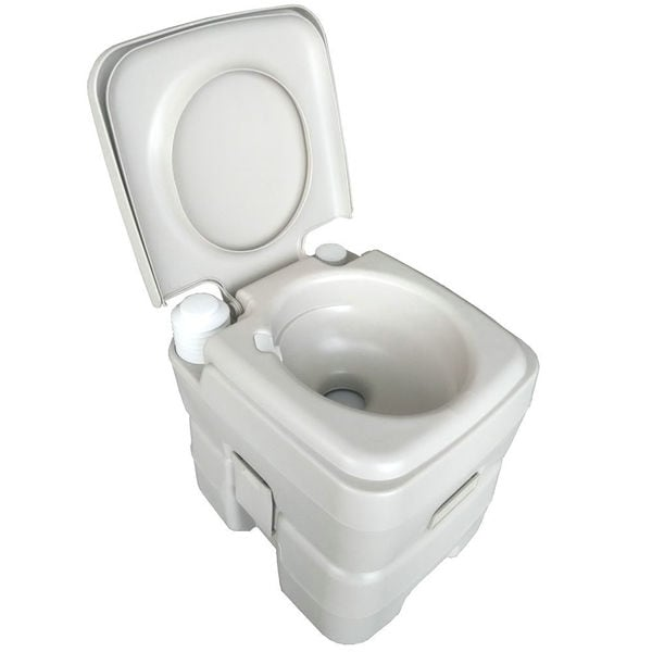 CHH-1020T 20L Portable Removable Flushing Toilet Outdoor Camping Potty Grey