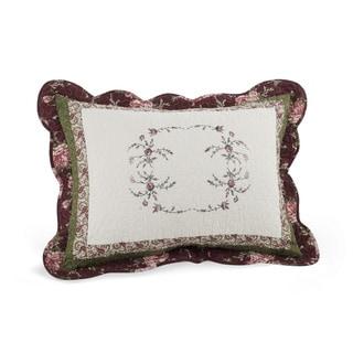 Modern Heirloom Brooke White/Green/Purple 20-inch x 26-inch x 2-inch Standard Sham