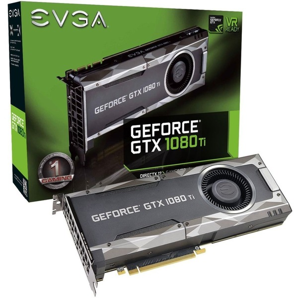 EVGA GeForce GTX 1080 Ti Graphic Card - 1 48 GHz Core - 1 58 GHz Boost  Clock - 11 GB GDDR5X - Dual Slot Space Required