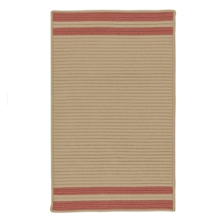 Colonial Mills Lima-stripe Texturized Indoor/Outdoor Reversible Rug (2' x 4') - 2' x 4'