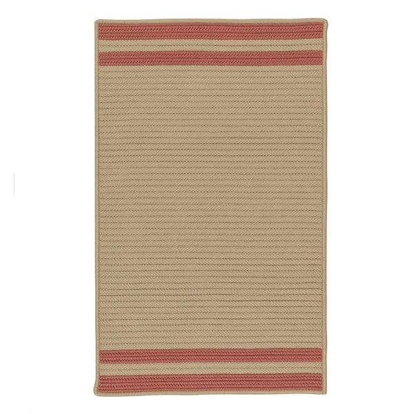 """Colonial Mills Lima Beige Striped Texturized Indoor/Outdoor Reversible Rug (30"""" x 50"""") - 2'6 x 4'2"""