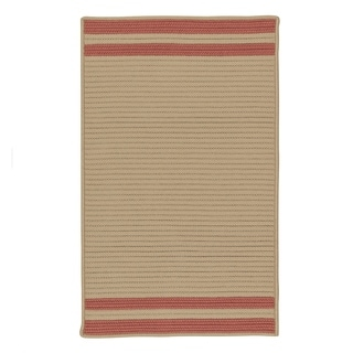 Colonial Mills Lima Beige Striped Texturized Indoor/Outdoor Reversible Rug (2'6 x 4'2)
