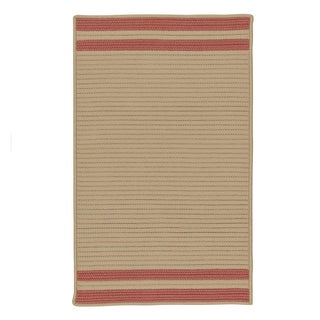 Colonial Mills Lima-stripe Texturized Indoor/ Outdoor Reversible Rug (8' x 10')