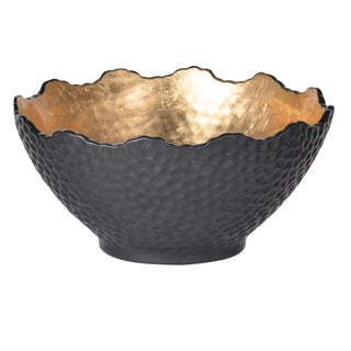 "D10.5x5.5"" Metro Gilded Bowl, Large"