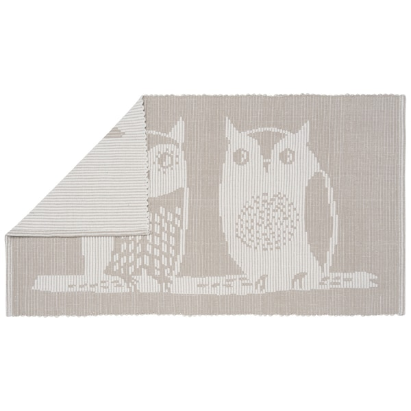 Now Designs Jacquard Grey Floor Mat Hoos There (20 x 34)