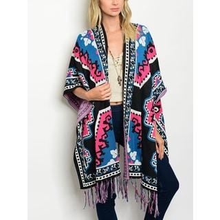 JED Women's Tribal Print Multi-Color Kimono Cardigan