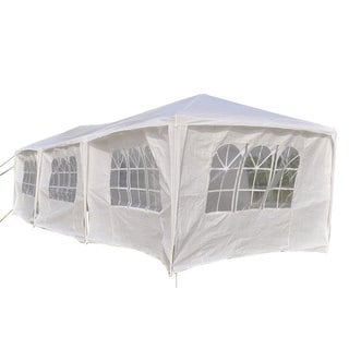 Cloth Canopy White Tent with 2 Windows & 1 Door