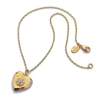 Sweet Romance Little Girls Gold Heart Locket Necklace