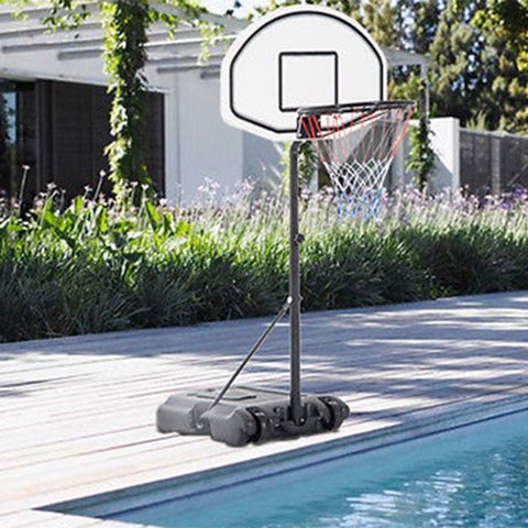 """Adjustable Poolside Basketball Hoop System Stand 28"""" x 19"""" with Backboard"""