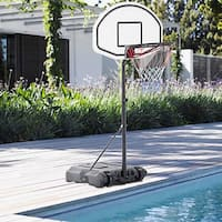 "Adjustable Poolside Basketball Hoop System Stand 28"" x 19"" with Backboard"