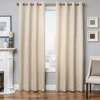 "Softline Kofi Grommet Top Cream Fabric Curtain Panel - 54""w x 84""l"