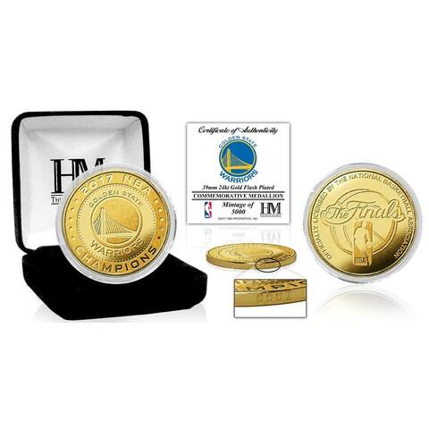 Golden State Warriors 2017 NBA Finals Champions Gold Mint Coin - Multi-color