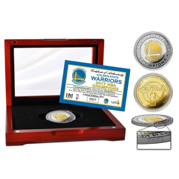 Golden State Warriors 2017 NBA Finals Champions Two-Tone Mint Coin