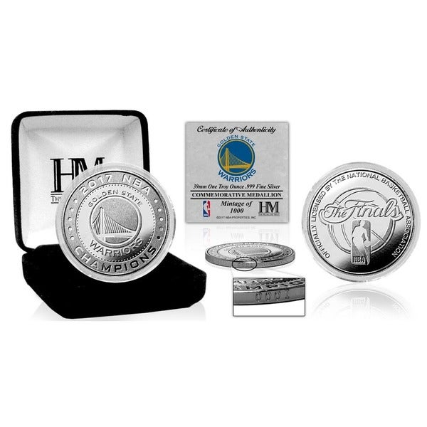 Golden State Warriors 2017 NBA Finals Champions Pure Silver Mint Coin