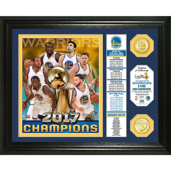Golden State Warriors 2017 NBA Finals Champions Banner Bronze Coin Photo Mint