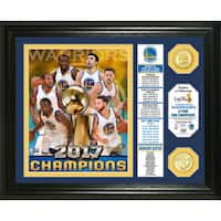 Golden State Warriors 2017 NBA Finals Champions Banner Bronze Coin Photo Mint