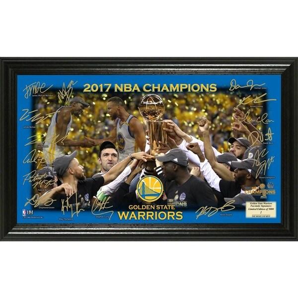 Golden State Warriors 2017 NBA Finals Champions Celebration Signature Court
