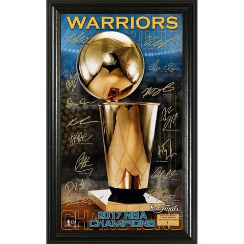 2017 NBA Finals Champions Trophy Signature Photo